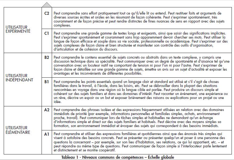 quel est votre niveau linguistique    page 1   u2013 parler pour ne rien dire  u2013 abc de la langue
